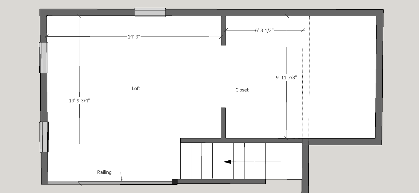 Cottage 850 Loft 2D